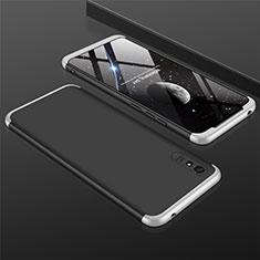 Xiaomi Redmi 9A用ハードケース プラスチック 質感もマット 前面と背面 360度 フルカバー P03 Xiaomi シルバー・ブラック