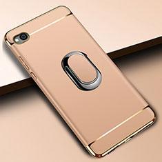 Xiaomi Redmi Go用ケース 高級感 手触り良い メタル兼プラスチック バンパー アンド指輪 A01 Xiaomi ゴールド