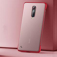 Xiaomi Redmi K20 Pro用極薄ケース クリア透明 プラスチック 質感もマットU01 Xiaomi レッド