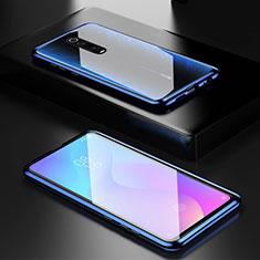 Xiaomi Redmi K20 Pro用ケース 高級感 手触り良い アルミメタル 製の金属製 360度 フルカバーバンパー 鏡面 カバー Xiaomi ネイビー