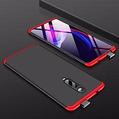 Xiaomi Redmi K20 Pro用ハードケース プラスチック 質感もマット 前面と背面 360度 フルカバー Xiaomi レッド・ブラック