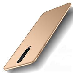 Xiaomi Redmi K30 5G用ハードケース プラスチック 質感もマット カバー M01 Xiaomi ゴールド