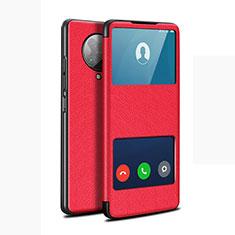 Xiaomi Redmi K30 Pro 5G用手帳型 レザーケース スタンド カバー T02 Xiaomi レッド