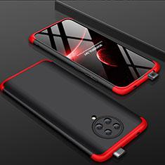Xiaomi Redmi K30 Pro Zoom用ハードケース プラスチック 質感もマット 前面と背面 360度 フルカバー P01 Xiaomi レッド・ブラック