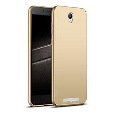 Xiaomi Redmi Note 2用ハードケース プラスチック 質感もマット M02 Xiaomi ゴールド