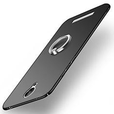 Xiaomi Redmi Note 2用ハードケース プラスチック 質感もマット アンド指輪 Xiaomi ブラック