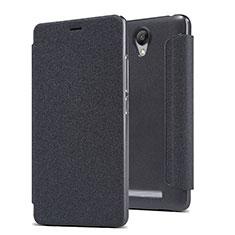 Xiaomi Redmi Note 2用手帳型 レザーケース スタンド Xiaomi ブラック