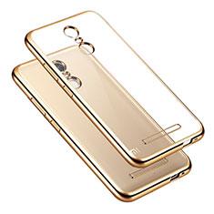 Xiaomi Redmi Note 3 MediaTek用バンパーケース クリア透明 Xiaomi ゴールド