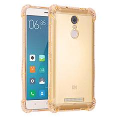 Xiaomi Redmi Note 3 MediaTek用極薄ソフトケース シリコンケース 耐衝撃 全面保護 クリア透明 H01 Xiaomi ゴールド