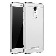 Xiaomi Redmi Note 3 MediaTek用ケース 高級感 手触り良い メタル兼プラスチック バンパー M01 Xiaomi シルバー