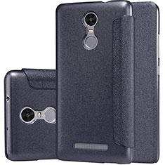 Xiaomi Redmi Note 3 MediaTek用手帳型 レザーケース スタンド Xiaomi ブラック