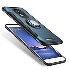 Xiaomi Redmi Note 3 MediaTek用ハイブリットバンパーケース プラスチック アンド指輪 兼シリコーン Xiaomi ネイビー
