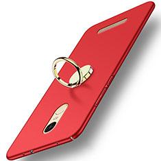 Xiaomi Redmi Note 3 Pro用ハードケース プラスチック 質感もマット アンド指輪 A02 Xiaomi レッド