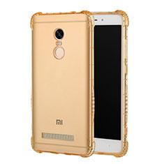 Xiaomi Redmi Note 3 Pro用極薄ソフトケース シリコンケース 耐衝撃 全面保護 クリア透明 T12 Xiaomi ゴールド
