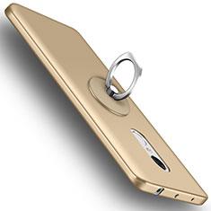 Xiaomi Redmi Note 4用ハードケース プラスチック 質感もマット アンド指輪 Xiaomi ゴールド