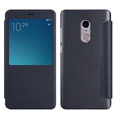 Xiaomi Redmi Note 4用手帳型 レザーケース スタンド Xiaomi ブラック