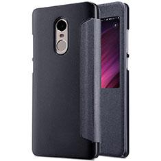 Xiaomi Redmi Note 4 Standard Edition用手帳型 レザーケース スタンド Xiaomi ブラック