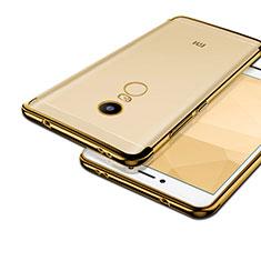 Xiaomi Redmi Note 4X用ハイブリットバンパーケース クリア透明 プラスチック Xiaomi ゴールド