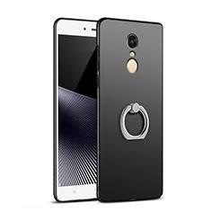 Xiaomi Redmi Note 4X用ハードケース プラスチック 質感もマット アンド指輪 A02 Xiaomi ブラック