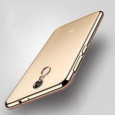 Xiaomi Redmi Note 4X High Edition用ハイブリットバンパーケース クリア透明 プラスチック Xiaomi ゴールド