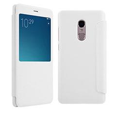 Xiaomi Redmi Note 4X High Edition用手帳型 レザーケース スタンド Xiaomi ホワイト
