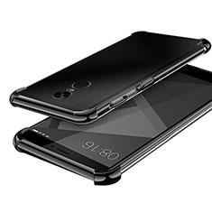 Xiaomi Redmi Note 4X High Edition用極薄ソフトケース シリコンケース 耐衝撃 全面保護 クリア透明 H02 Xiaomi ブラック