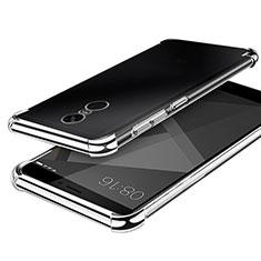 Xiaomi Redmi Note 4X High Edition用極薄ソフトケース シリコンケース 耐衝撃 全面保護 クリア透明 H02 Xiaomi シルバー