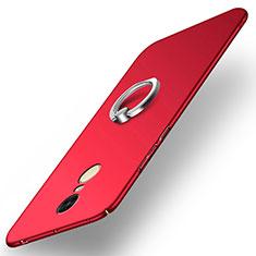 Xiaomi Redmi Note 4X High Edition用ハードケース プラスチック 質感もマット アンド指輪 A02 Xiaomi レッド