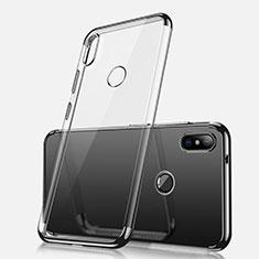 Xiaomi Redmi Note 5 AI Dual Camera用極薄ソフトケース シリコンケース 耐衝撃 全面保護 クリア透明 H02 Xiaomi ブラック