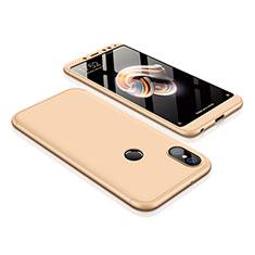 Xiaomi Redmi Note 5 AI Dual Camera用ハードケース プラスチック 質感もマット 前面と背面 360度 フルカバー Xiaomi ゴールド