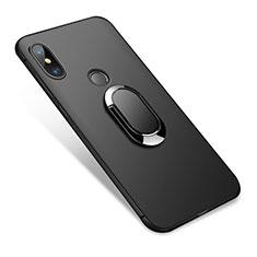 Xiaomi Redmi Note 5 AI Dual Camera用極薄ソフトケース シリコンケース 耐衝撃 全面保護 アンド指輪 Xiaomi ブラック