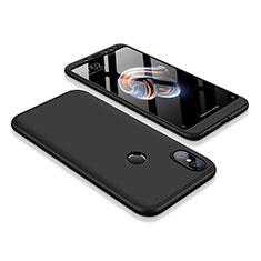 Xiaomi Redmi Note 5用ハードケース プラスチック 質感もマット 前面と背面 360度 フルカバー Xiaomi ブラック