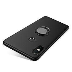 Xiaomi Redmi Note 5用極薄ソフトケース シリコンケース 耐衝撃 全面保護 アンド指輪 バンパー Xiaomi ブラック