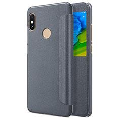 Xiaomi Redmi Note 5用手帳型 レザーケース スタンド L01 Xiaomi グレー
