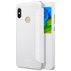 Xiaomi Redmi Note 5用手帳型 レザーケース スタンド L01 Xiaomi ホワイト