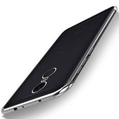Xiaomi Redmi Note 5 Indian Version用極薄ソフトケース シリコンケース 耐衝撃 全面保護 クリア透明 H02 Xiaomi シルバー