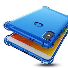 Xiaomi Redmi Note 5 Pro用極薄ソフトケース シリコンケース 耐衝撃 全面保護 クリア透明 H01 Xiaomi ネイビー