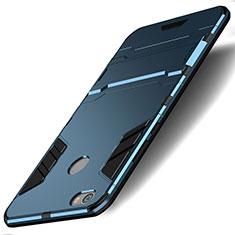 Xiaomi Redmi Note 5A High Edition用ハイブリットバンパーケース スタンド プラスチック 兼シリコーン Xiaomi ネイビー
