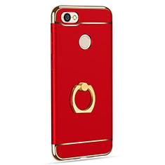 Xiaomi Redmi Note 5A High Edition用ケース 高級感 手触り良い メタル兼プラスチック バンパー アンド指輪 Xiaomi レッド