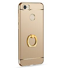 Xiaomi Redmi Note 5A High Edition用ケース 高級感 手触り良い メタル兼プラスチック バンパー アンド指輪 Xiaomi ゴールド