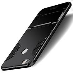Xiaomi Redmi Note 5A Prime用ハイブリットバンパーケース スタンド プラスチック 兼シリコーン Xiaomi ブラック