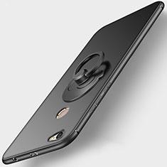 Xiaomi Redmi Note 5A Prime用極薄ソフトケース シリコンケース 耐衝撃 全面保護 アンド指輪 Xiaomi ブラック