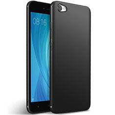 Xiaomi Redmi Note 5A Standard Edition用シリコンケース ソフトタッチラバー Xiaomi ブラック