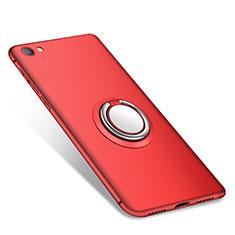 Xiaomi Redmi Note 5A Standard Edition用極薄ソフトケース シリコンケース 耐衝撃 全面保護 アンド指輪 バンパー Xiaomi レッド