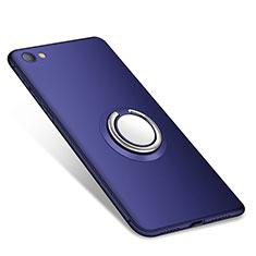 Xiaomi Redmi Note 5A Standard Edition用極薄ソフトケース シリコンケース 耐衝撃 全面保護 アンド指輪 バンパー Xiaomi ネイビー
