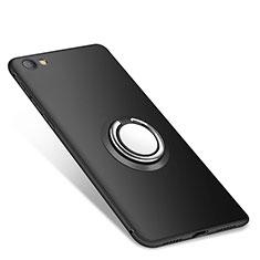 Xiaomi Redmi Note 5A Standard Edition用極薄ソフトケース シリコンケース 耐衝撃 全面保護 アンド指輪 バンパー Xiaomi ブラック