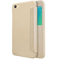 Xiaomi Redmi Note 5A Standard Edition用手帳型 レザーケース スタンド Xiaomi ゴールド