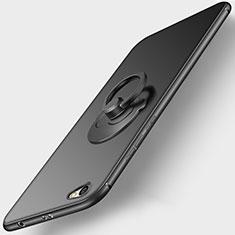Xiaomi Redmi Note 5A Standard Edition用極薄ソフトケース シリコンケース 耐衝撃 全面保護 アンド指輪 Xiaomi ブラック