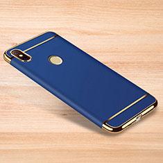 Xiaomi Redmi Note 6 Pro用ケース 高級感 手触り良い メタル兼プラスチック バンパー M01 Xiaomi ネイビー