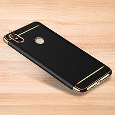 Xiaomi Redmi Note 6 Pro用ケース 高級感 手触り良い メタル兼プラスチック バンパー M01 Xiaomi ブラック